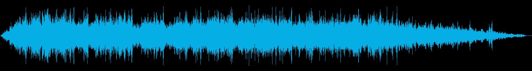 洗面所で水を流している音の再生済みの波形