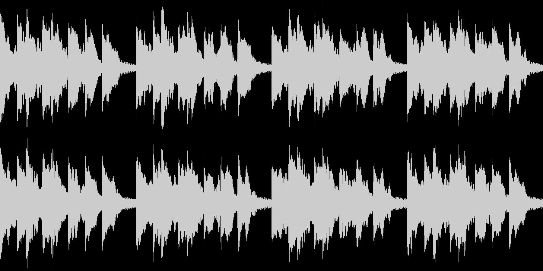 シンプル ベル 着信音 チャイム B15の未再生の波形