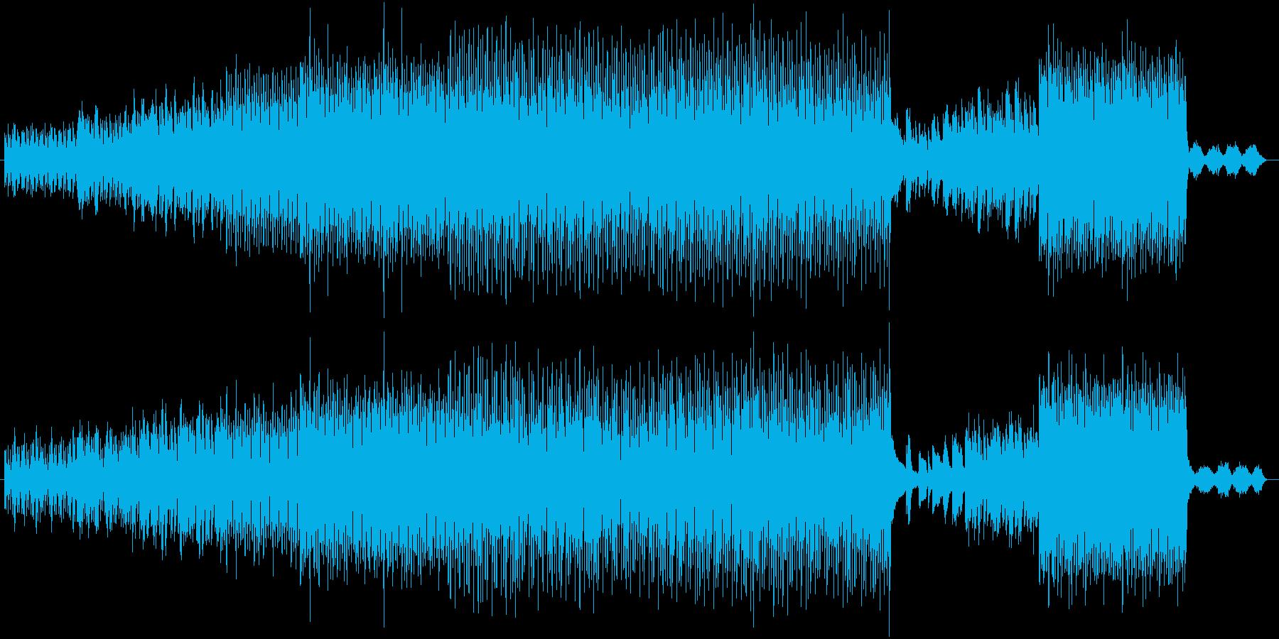 軽快なリズムの幻想的な曲の再生済みの波形
