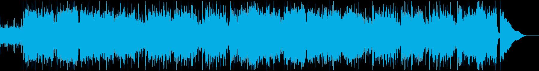 リコーダーとアコギのほのぼのとしたBGMの再生済みの波形