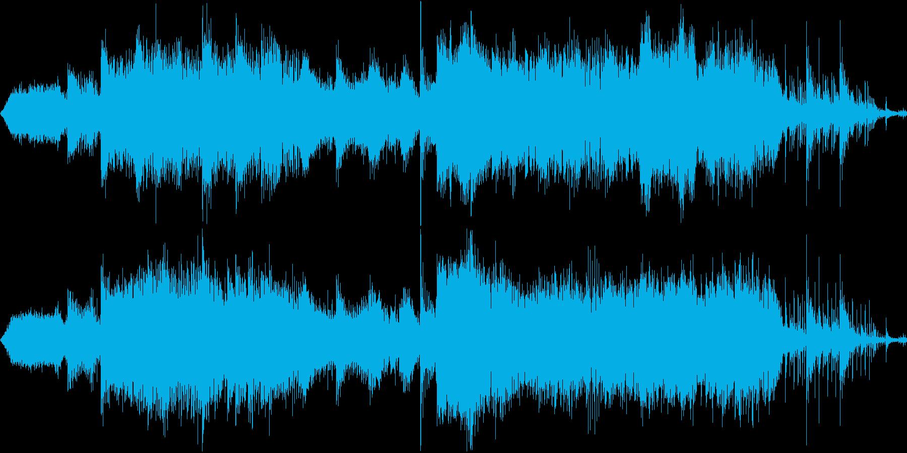 勇壮な戦闘BGM用オーケストラの再生済みの波形