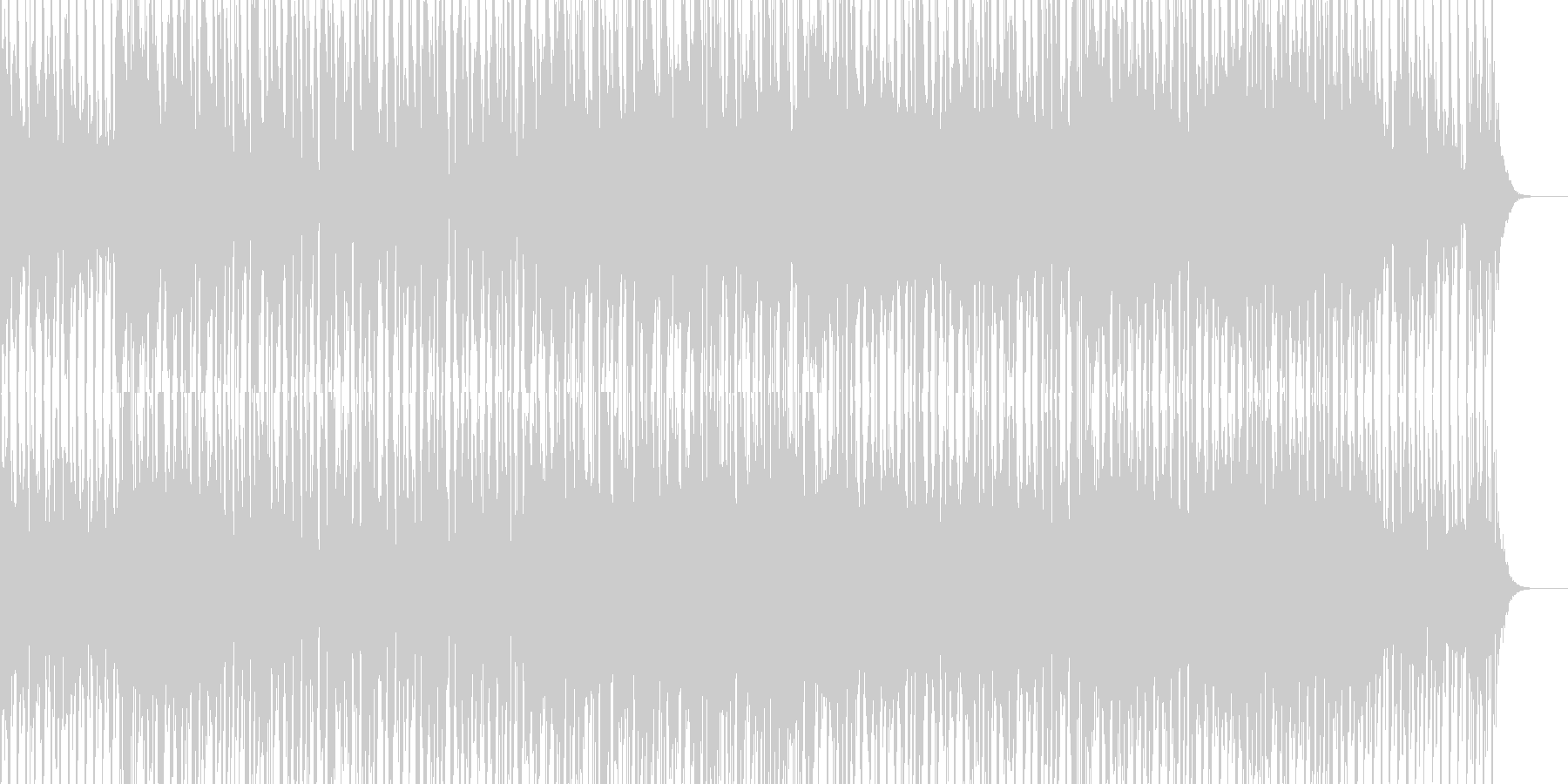 中華風のダンスミュージックの未再生の波形