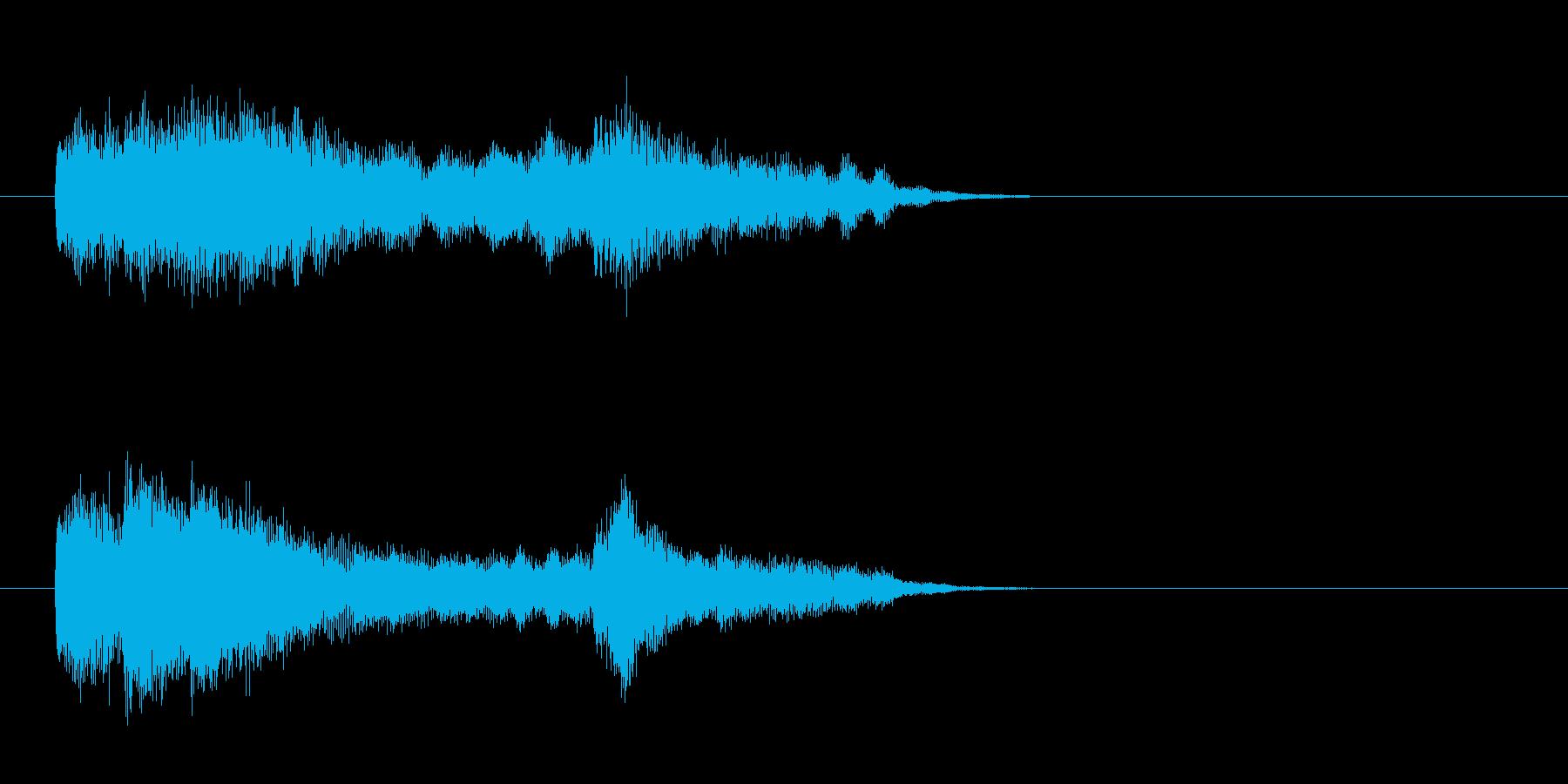ジングル(SEタイプ)の再生済みの波形