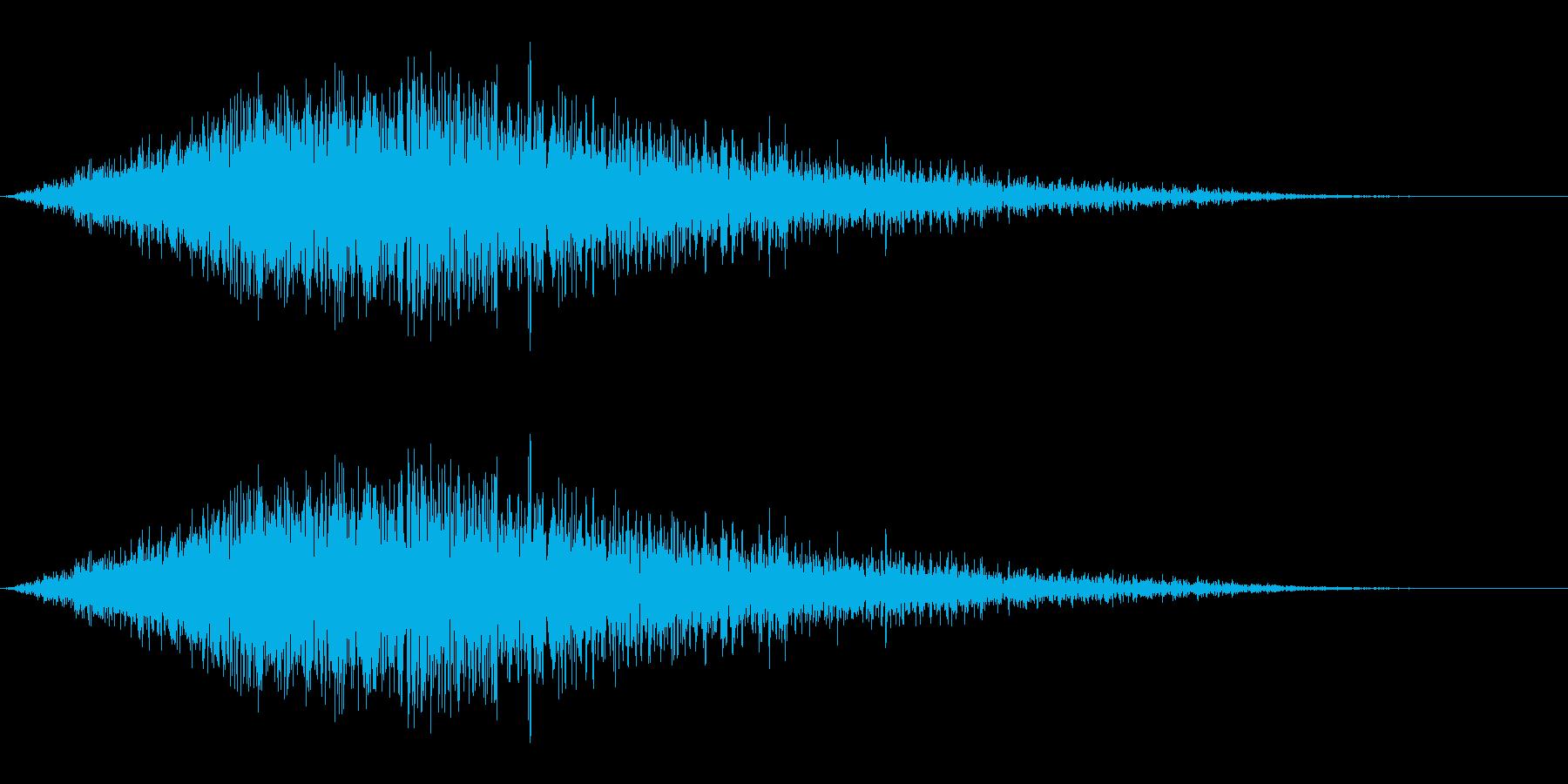 ノイズ(シュワー)の再生済みの波形