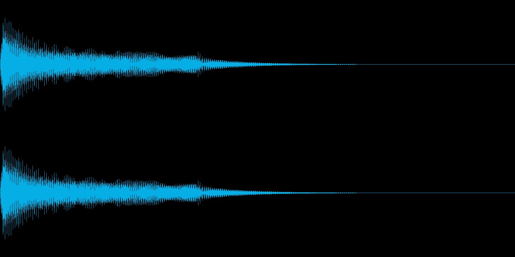 びよ〜ん、みょ〜ん、ぽよ〜ん、ボヨンの再生済みの波形