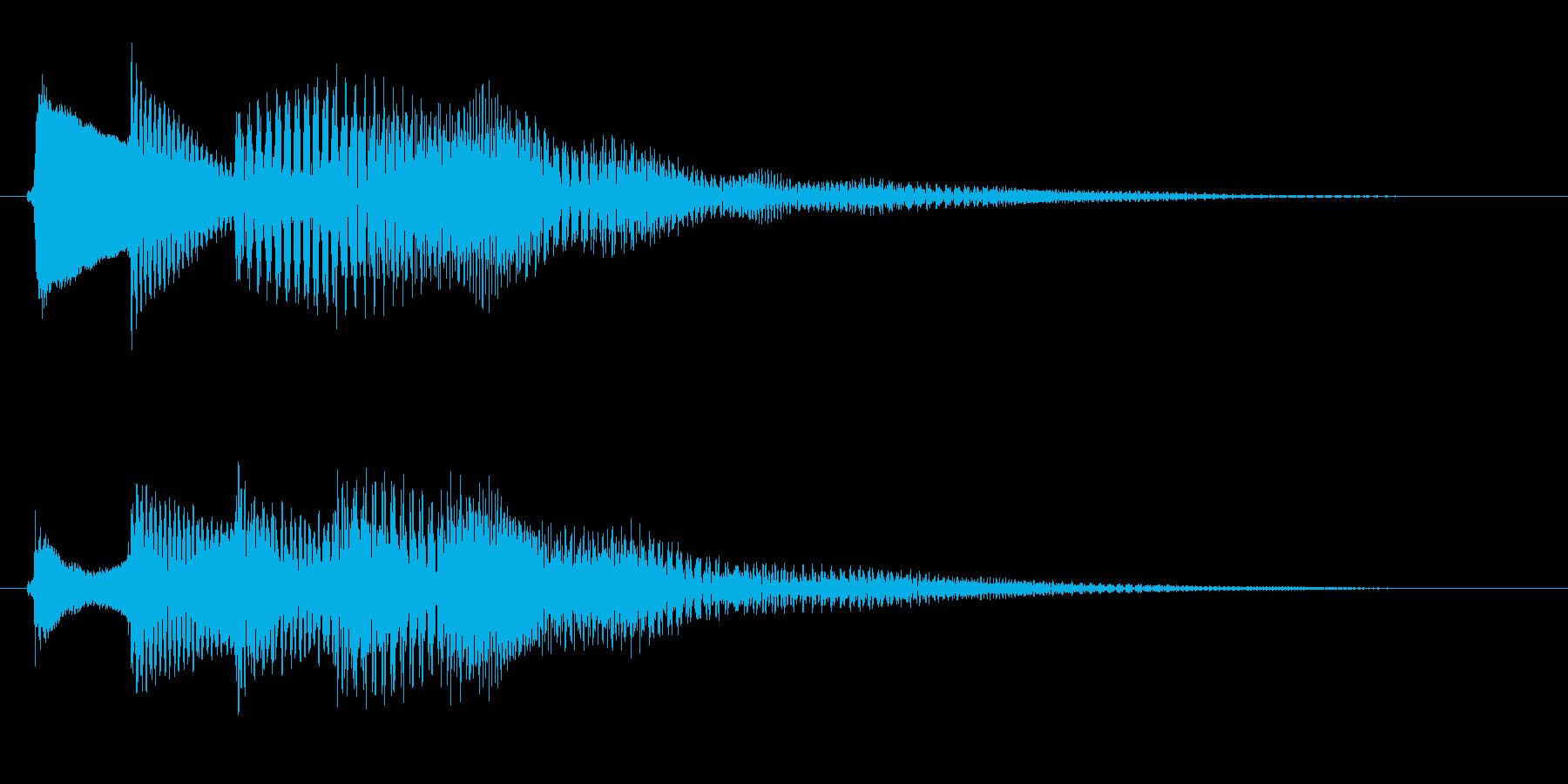 アプリ用サウンドエフェクトです。の再生済みの波形