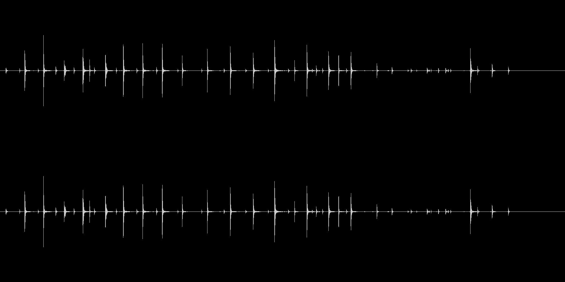 コーヒーカップ かき混ぜる効果音の未再生の波形