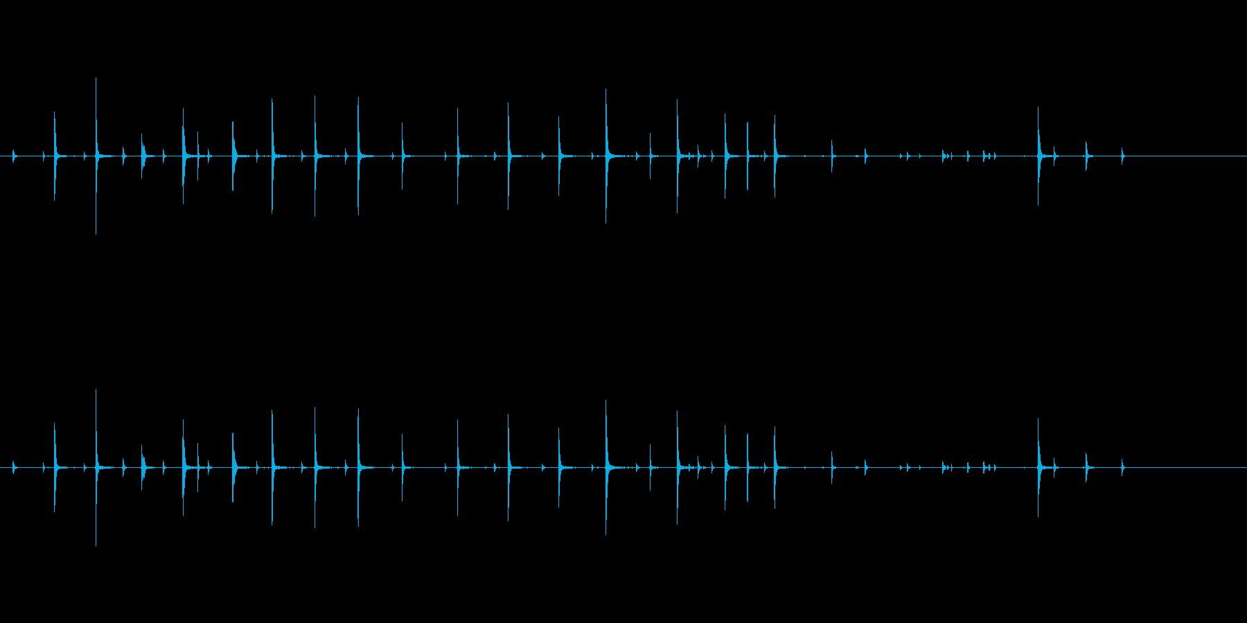 コーヒーカップ かき混ぜる効果音の再生済みの波形