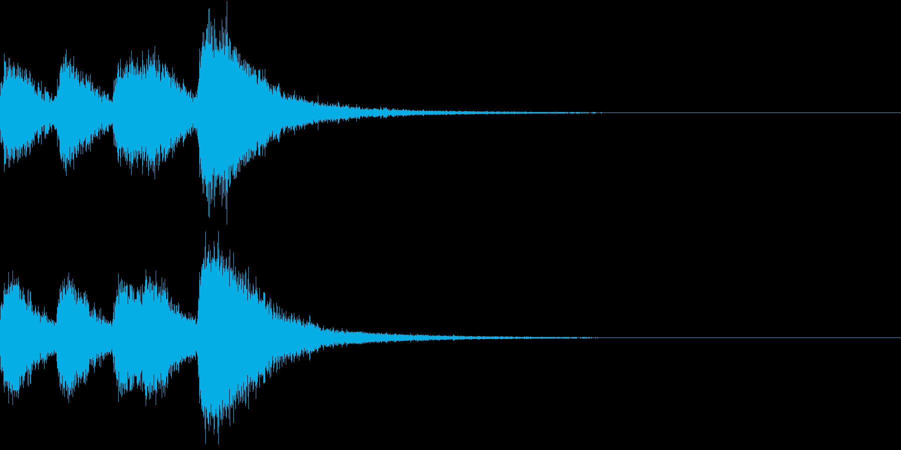 オーケストラヒット ジングル! 04+の再生済みの波形