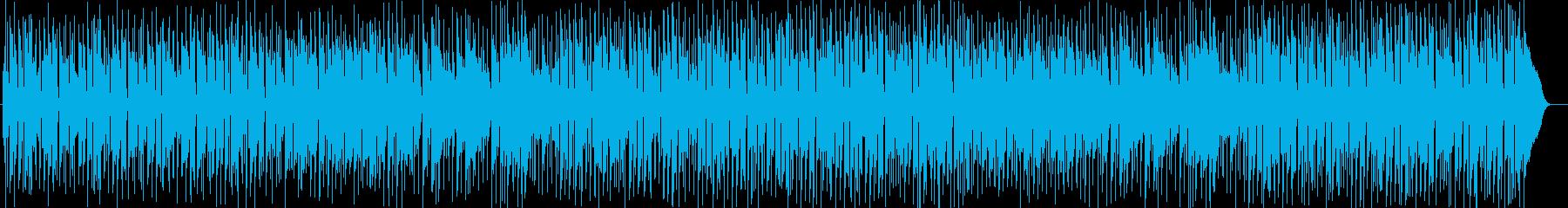 午後の風景ギターシンセサイザーサウンドの再生済みの波形