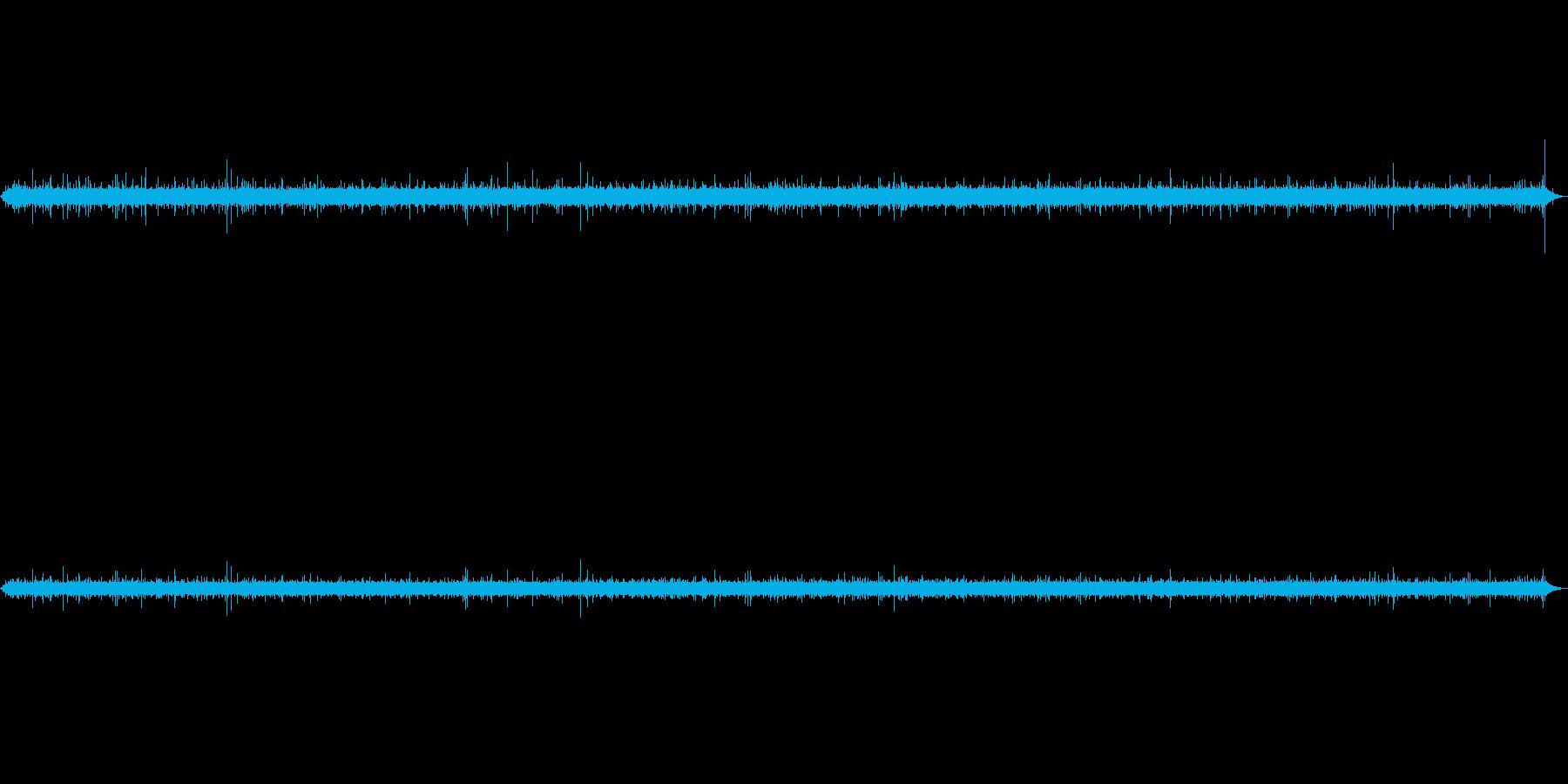 小さな湧水の環境音の再生済みの波形