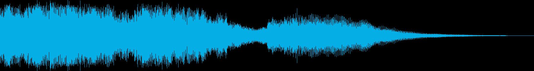 サウンドロゴ マレット系の再生済みの波形