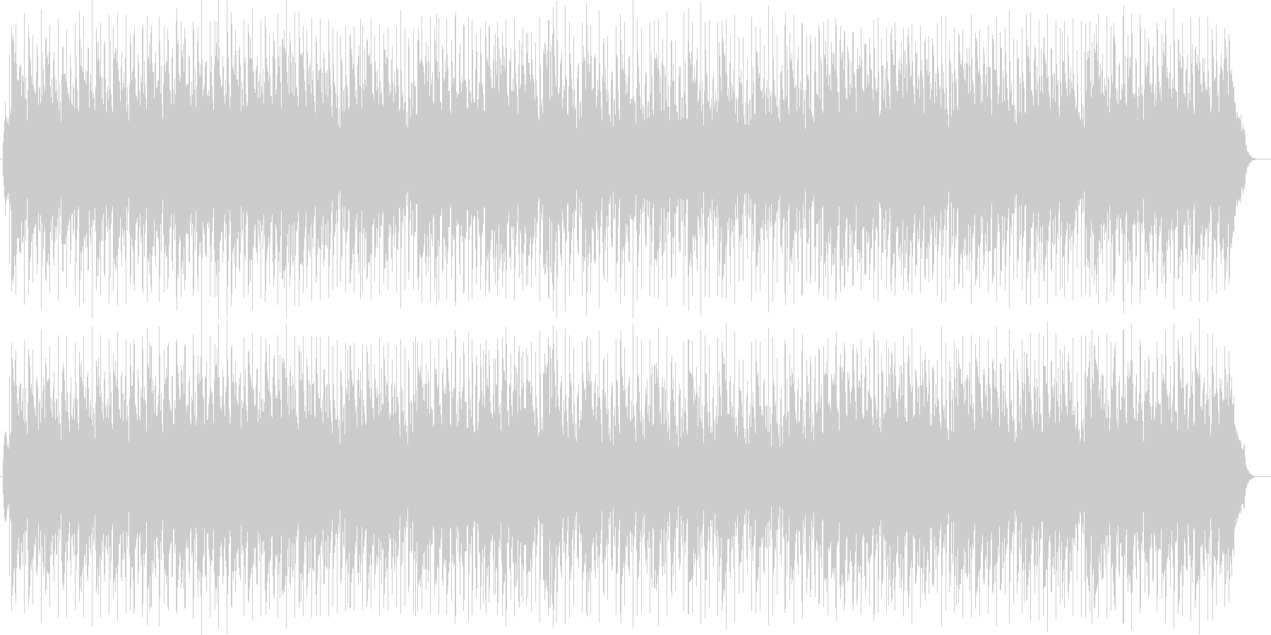 パーカッションのリズムがおしゃれな曲の未再生の波形