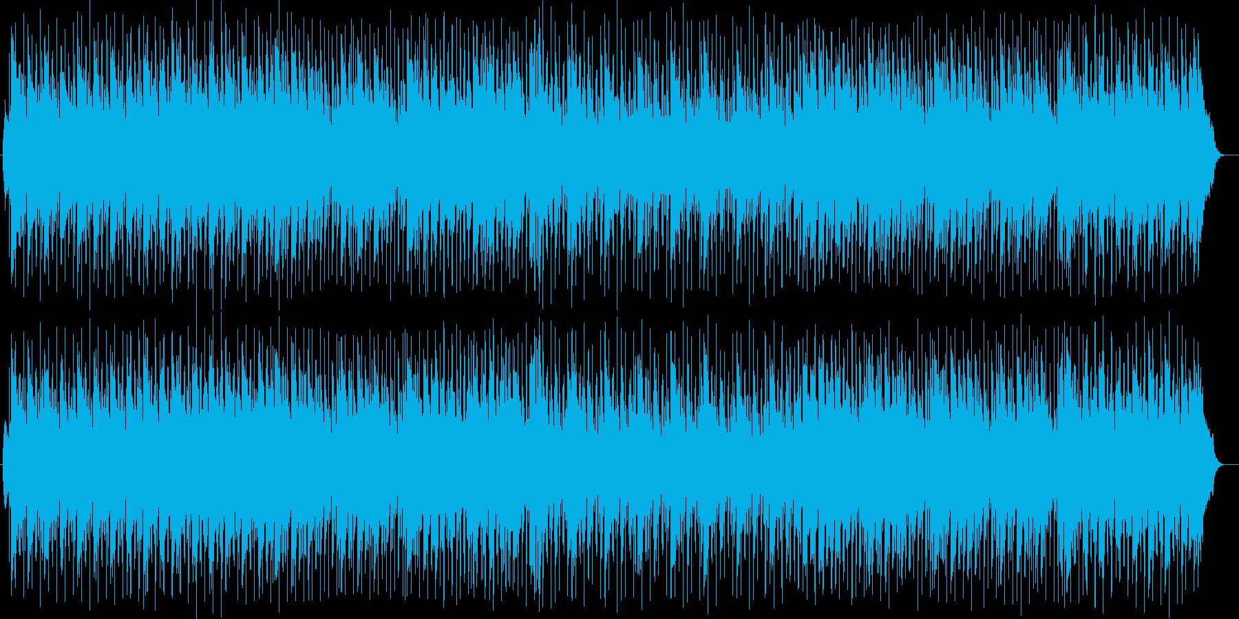 パーカッションのリズムがおしゃれな曲の再生済みの波形