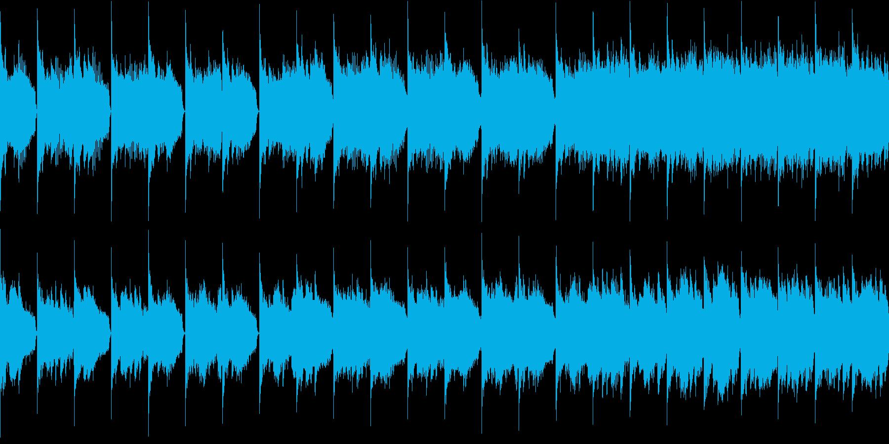 憂鬱 悲しい ピアノ ループの再生済みの波形