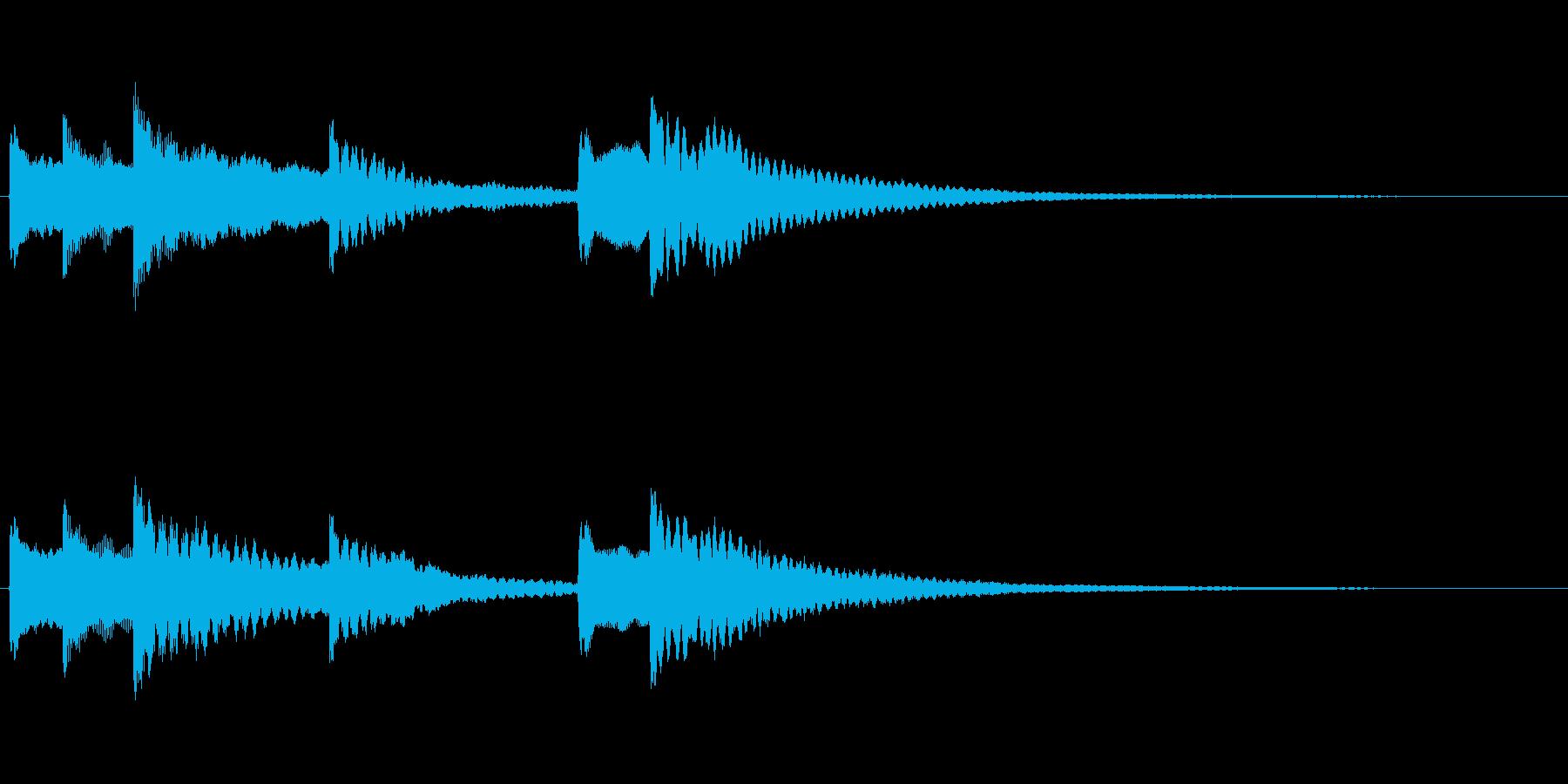 お琴を使った和風ジングル風SEですの再生済みの波形