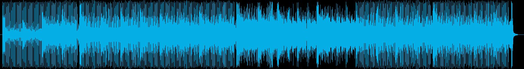 四つ打ちのアンビエント寄りの曲です。の再生済みの波形