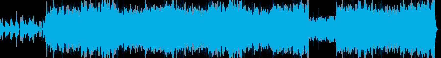ダンスミュージックと「和」の統合曲の再生済みの波形