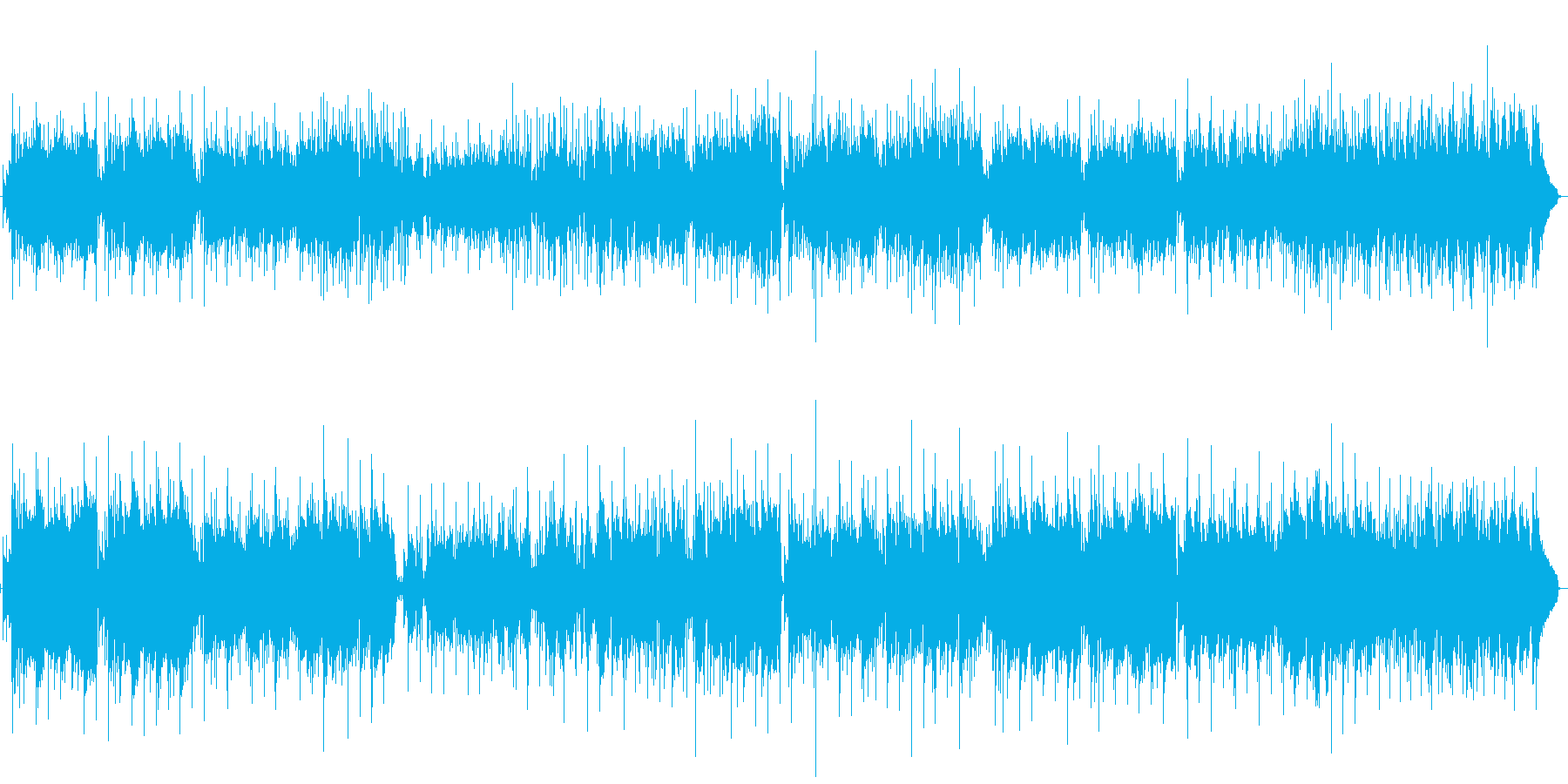 スムースジャズ風インストの再生済みの波形