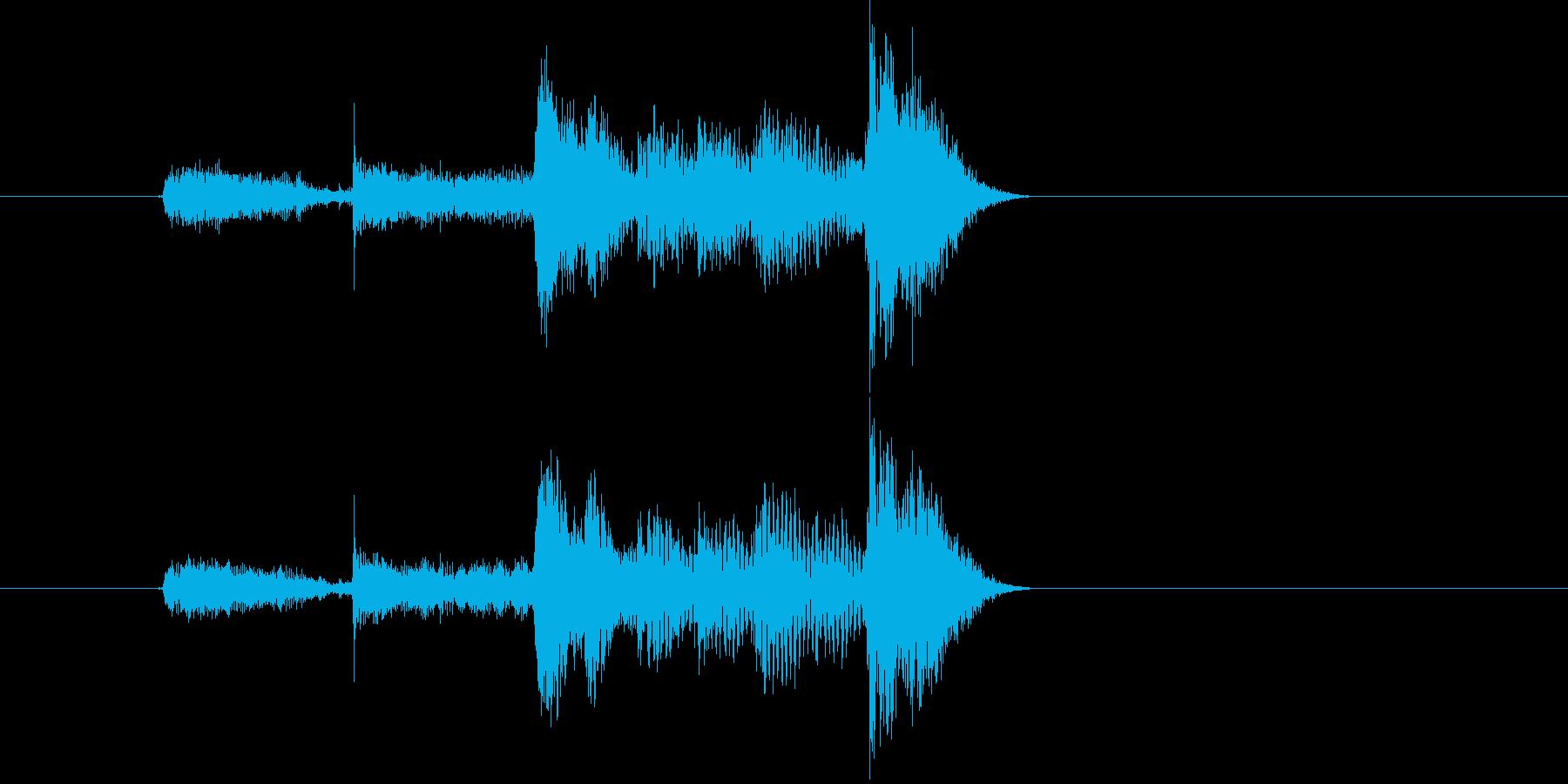 カウントするボイス音(バンド、短い)の再生済みの波形