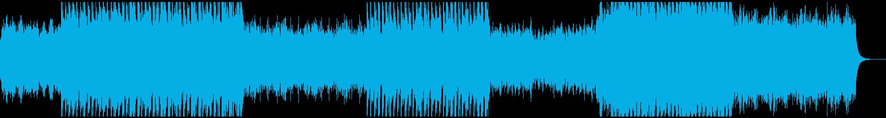 感動的で幸せな気持ちになるBGMの再生済みの波形