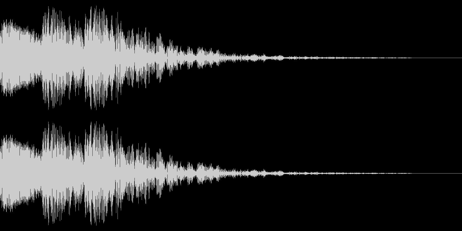 文字のインパクト音が3回鳴ります。の未再生の波形