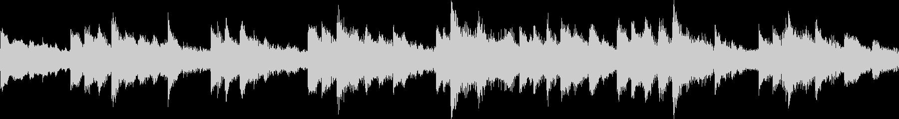 ピアノとストリングスの癒し系BGMループの未再生の波形