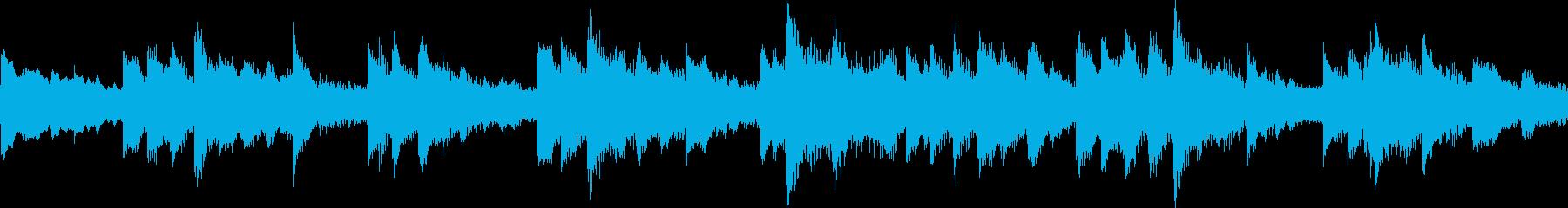 ピアノとストリングスの癒し系BGMループの再生済みの波形