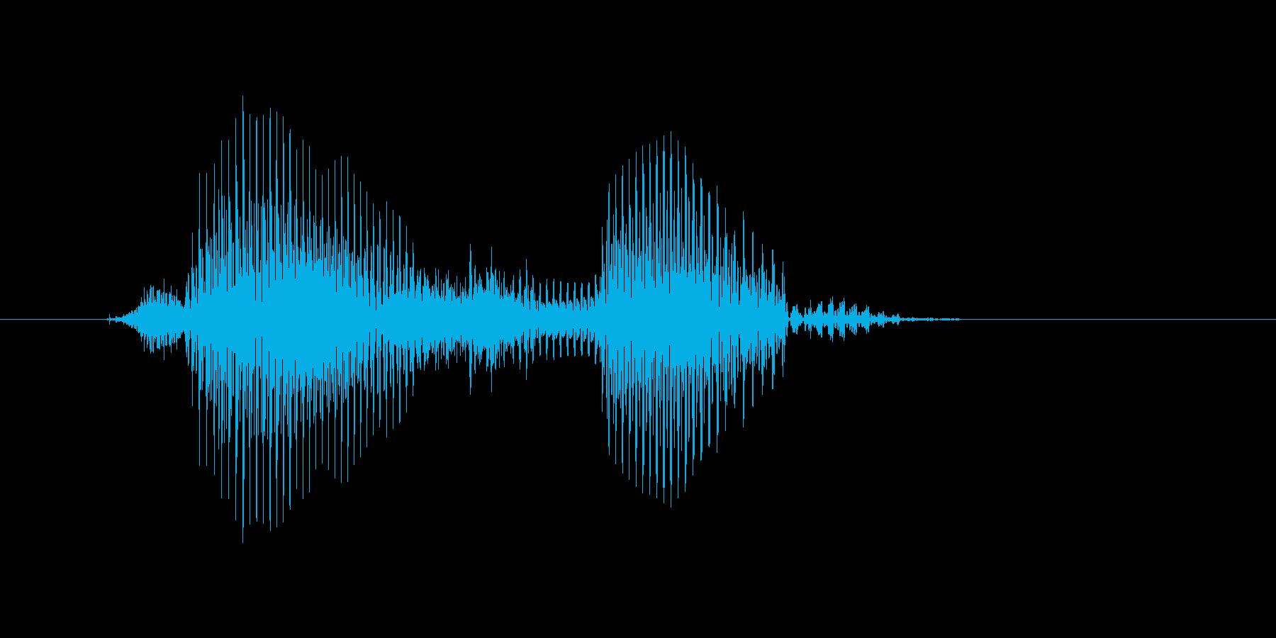 チャンスボールの再生済みの波形