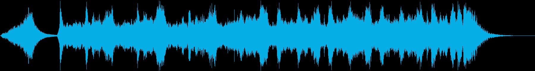 ホラー系・じわじわ追い詰められる曲の再生済みの波形