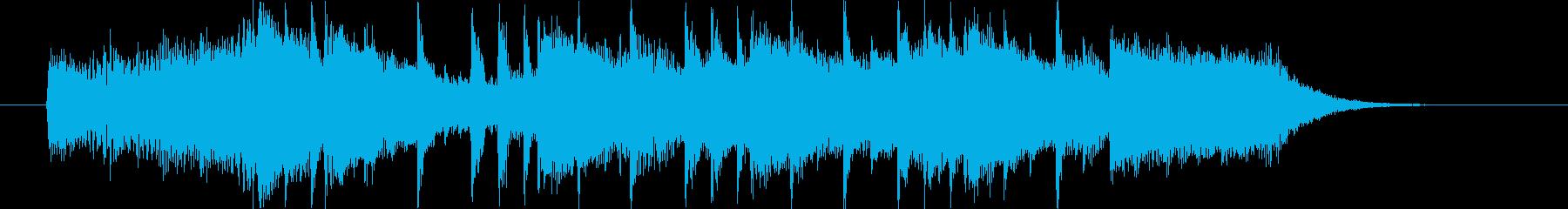壮大な風景のイメージの15秒ジングルの再生済みの波形