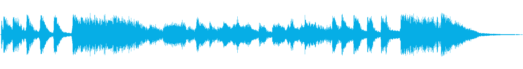 ビッグバンドジャズ風のジングルの再生済みの波形