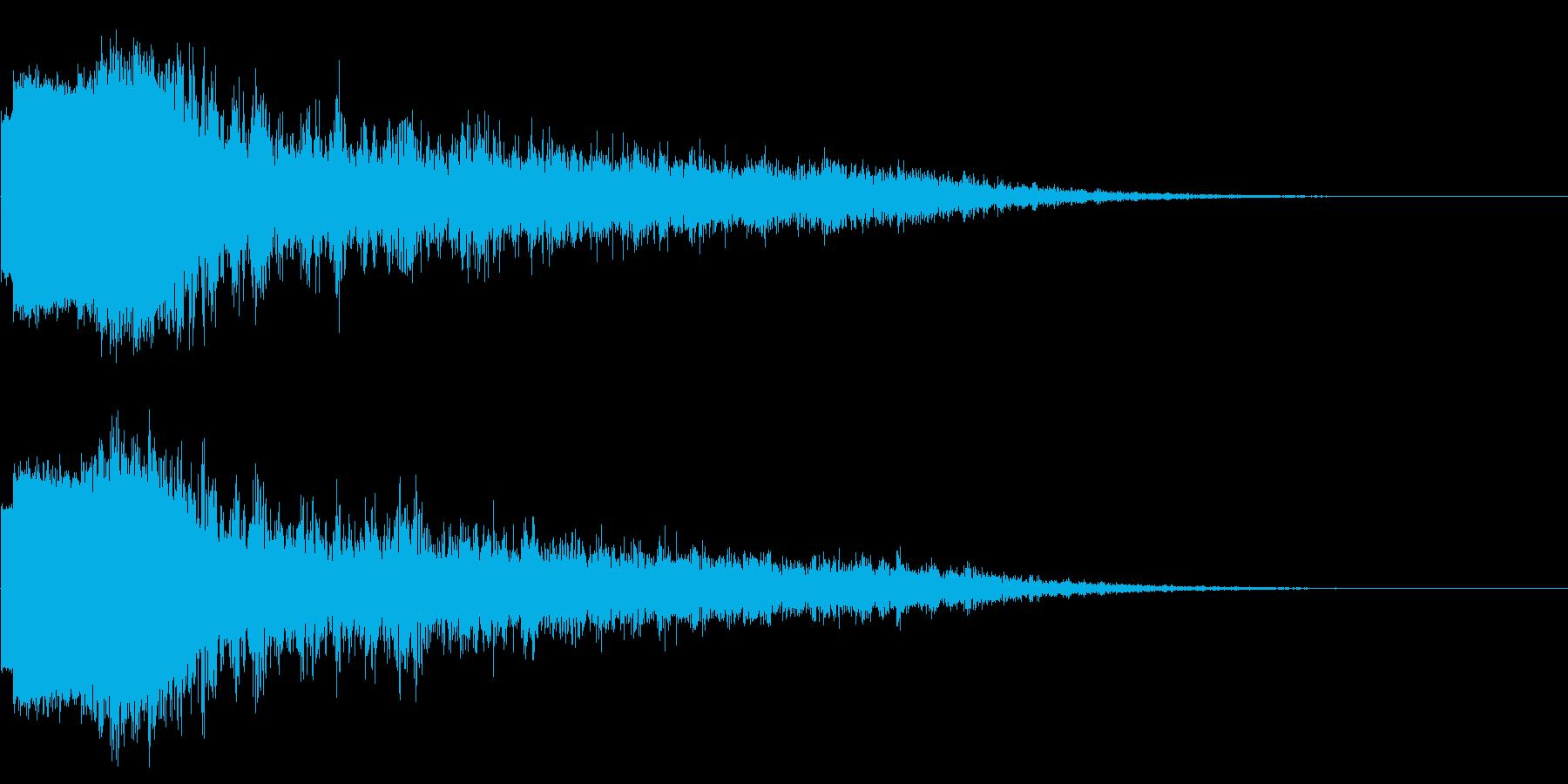 魔法・氷・バリア・破壊音の再生済みの波形