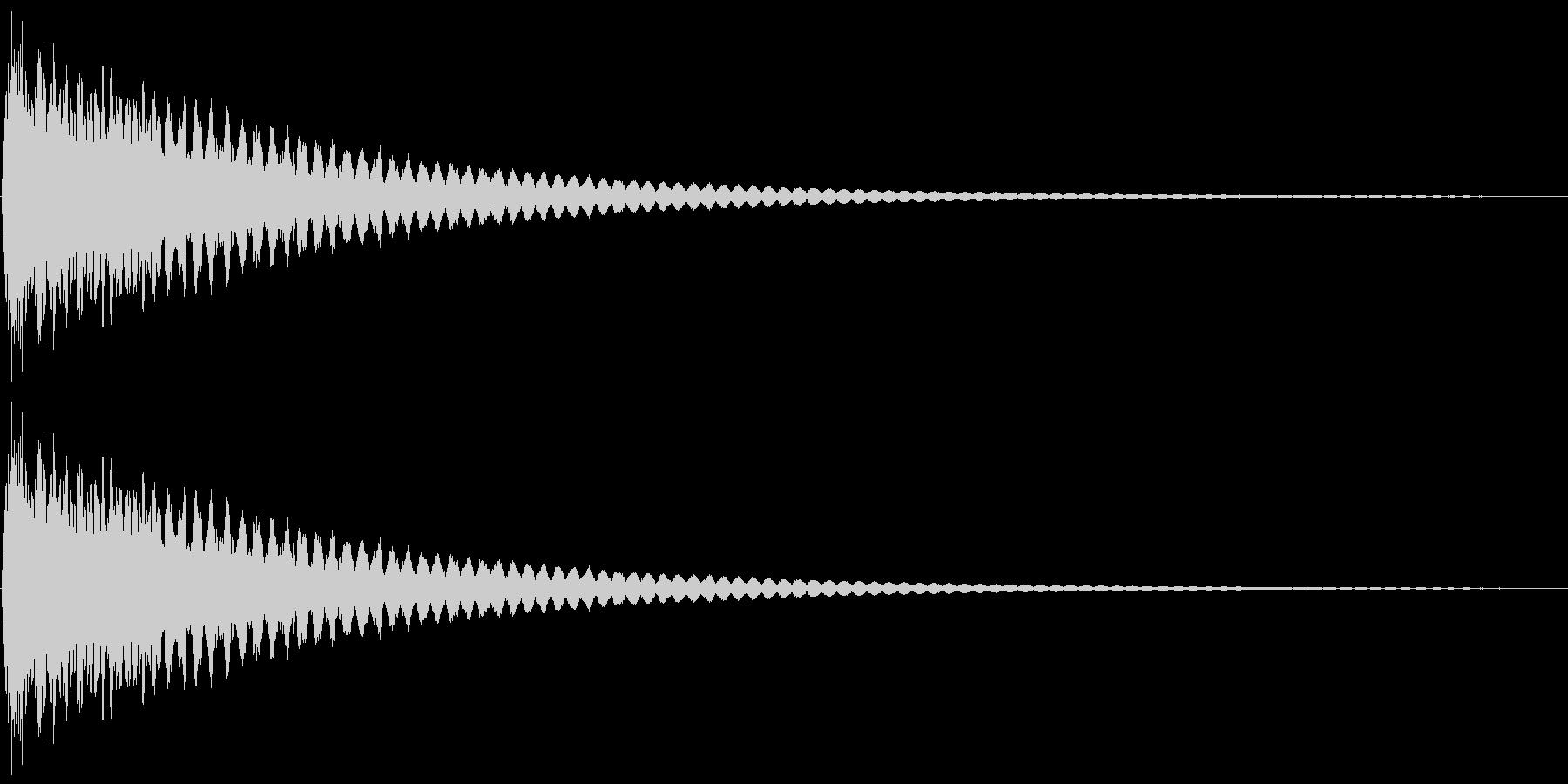 シャーン(砂を投げる・回想・場面転換)の未再生の波形