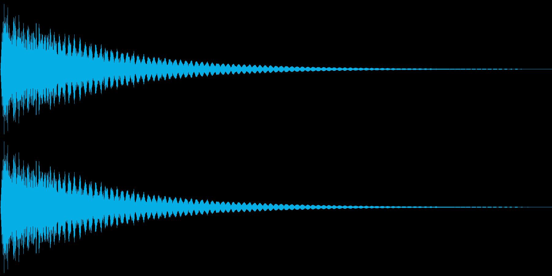 シャーン(砂を投げる・回想・場面転換)の再生済みの波形