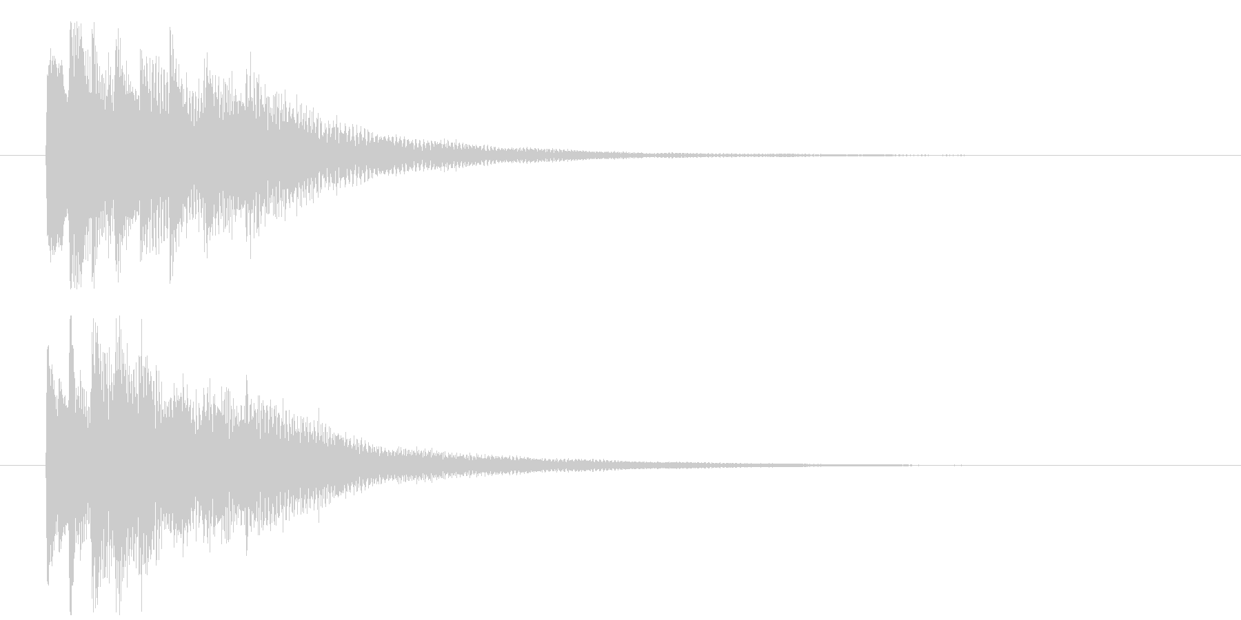 回想や夢の中から現実に戻る音 ポロロンの未再生の波形