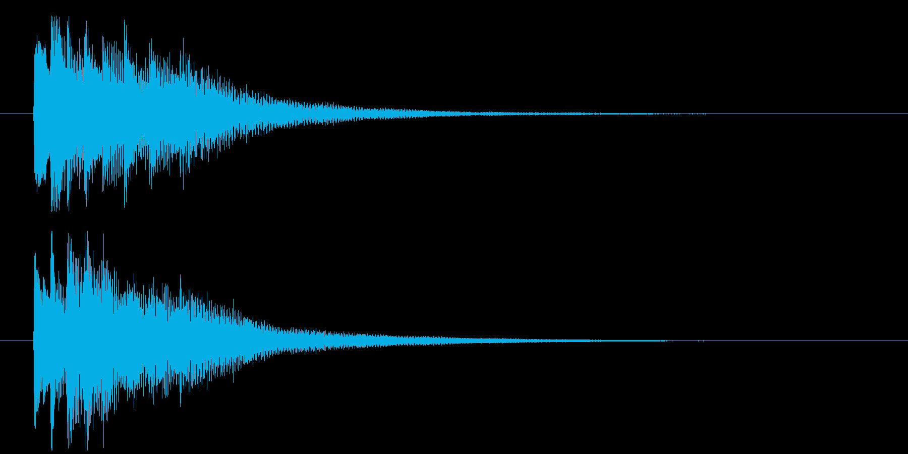 回想や夢の中から現実に戻る音 ポロロンの再生済みの波形