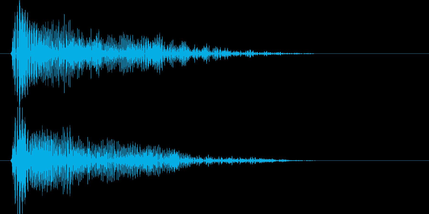 ドゥウウウーン(衝撃波)の再生済みの波形