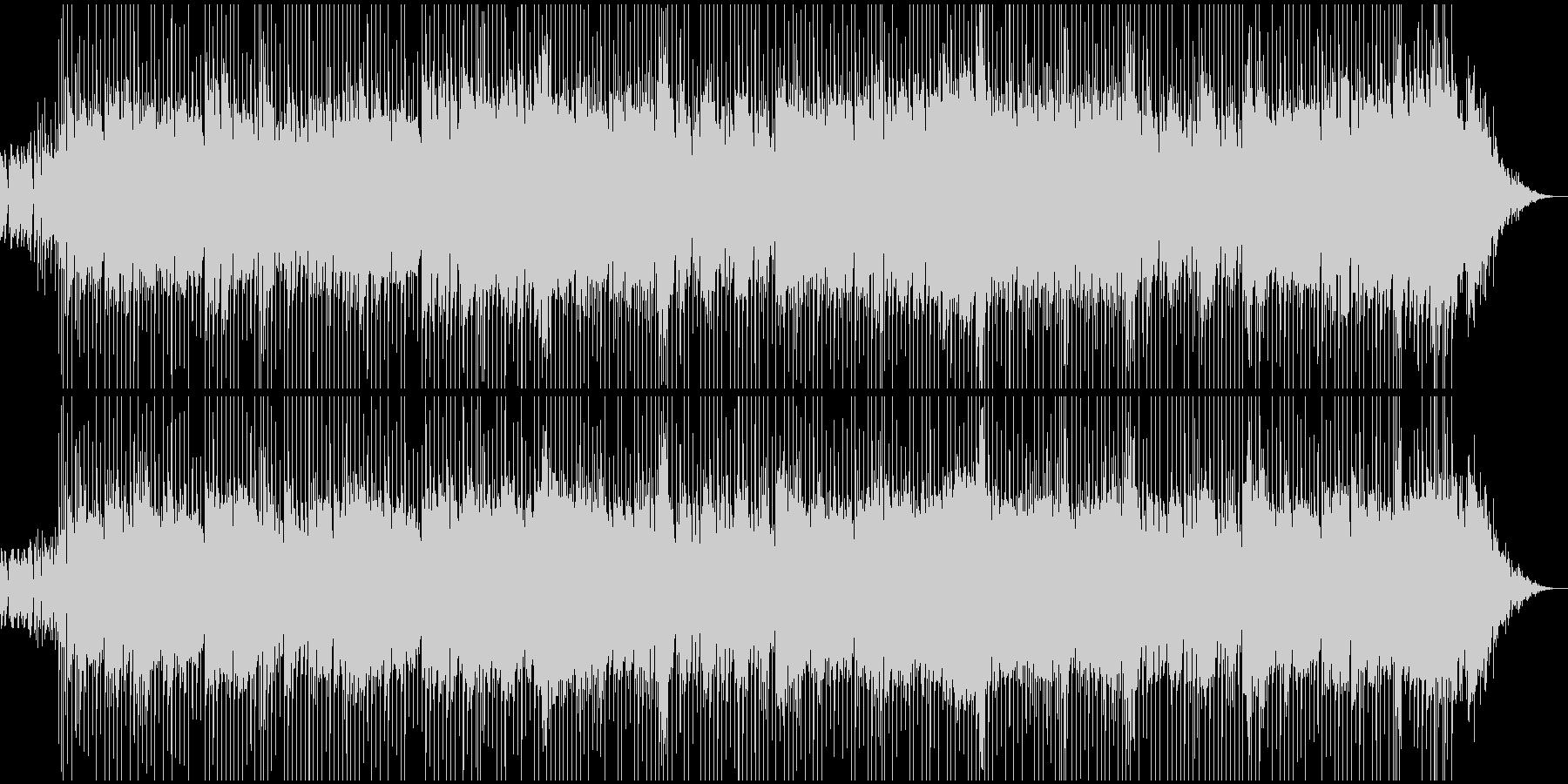 あわただしさ、忙しさのある場面用BGMの未再生の波形