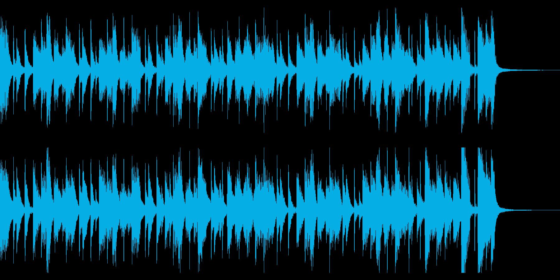 わくわくピアノジャズ(1回)の再生済みの波形