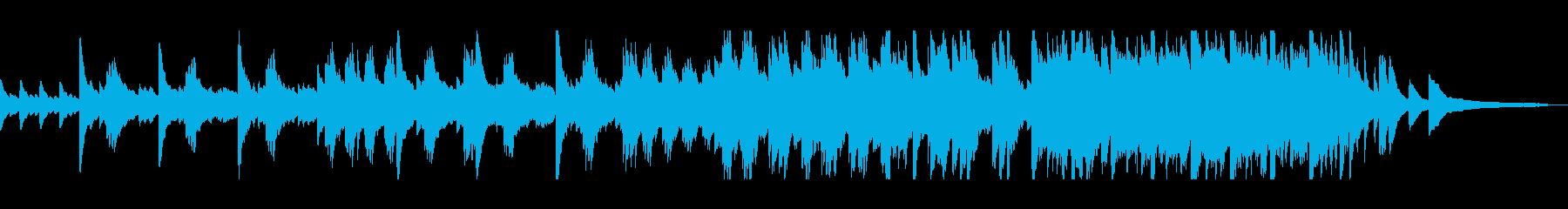 美しいピアノのヒーリングミュージックの再生済みの波形