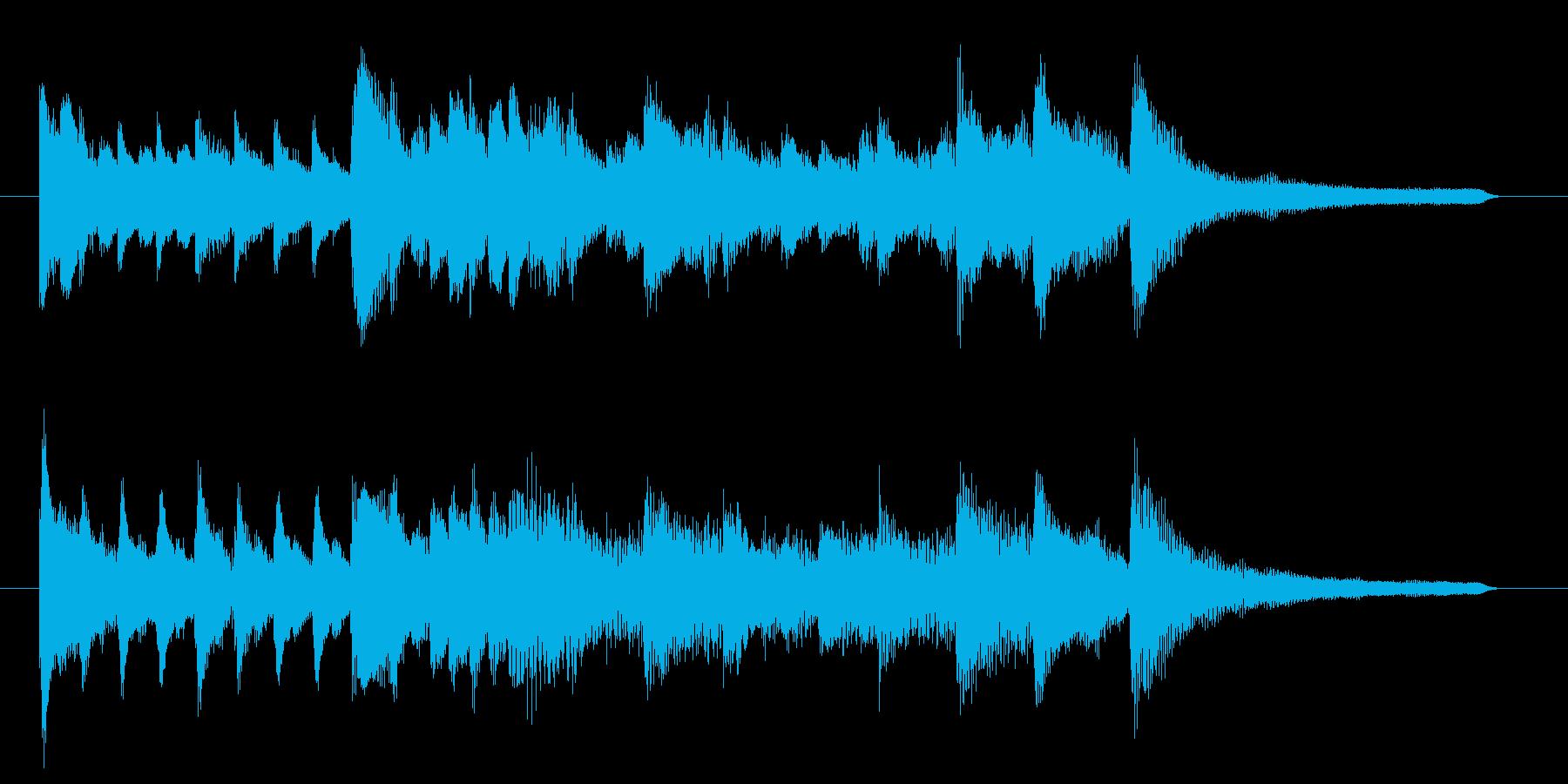 オープニングわくわくが始まるようなピアノの再生済みの波形