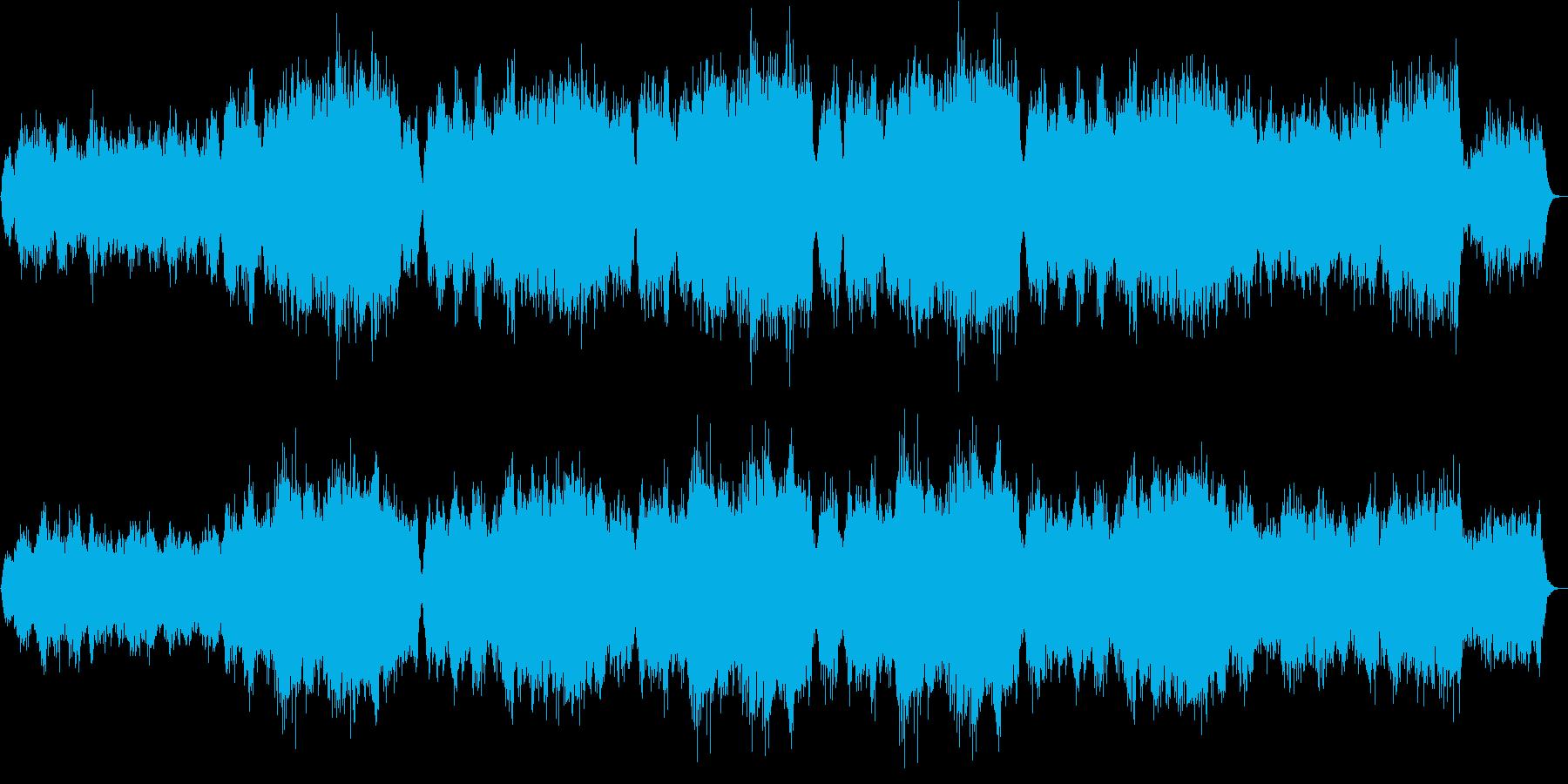 幻想的で壮大なコーラス×オーケストラの再生済みの波形