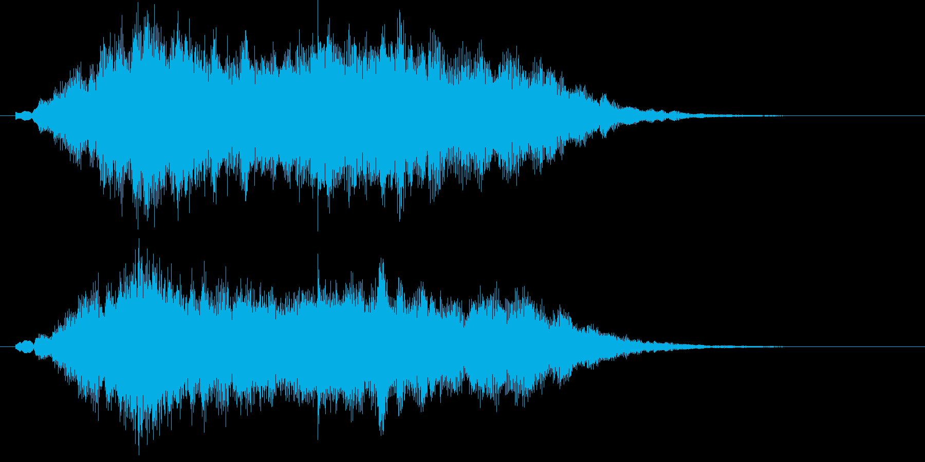 幻想的でキラキラしたサウンドロゴの再生済みの波形