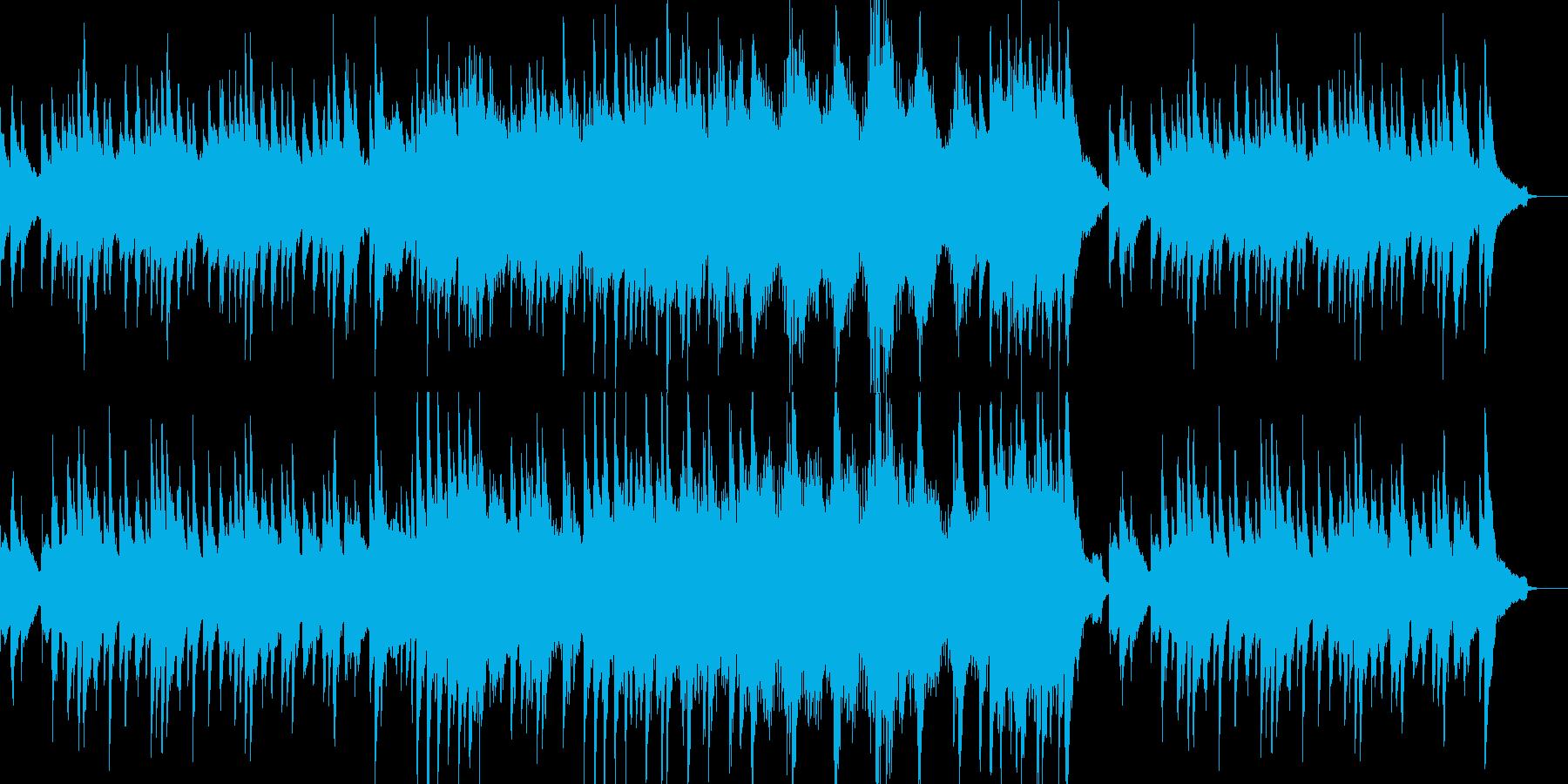 温かいゆったりとした雰囲気のピアノソロの再生済みの波形