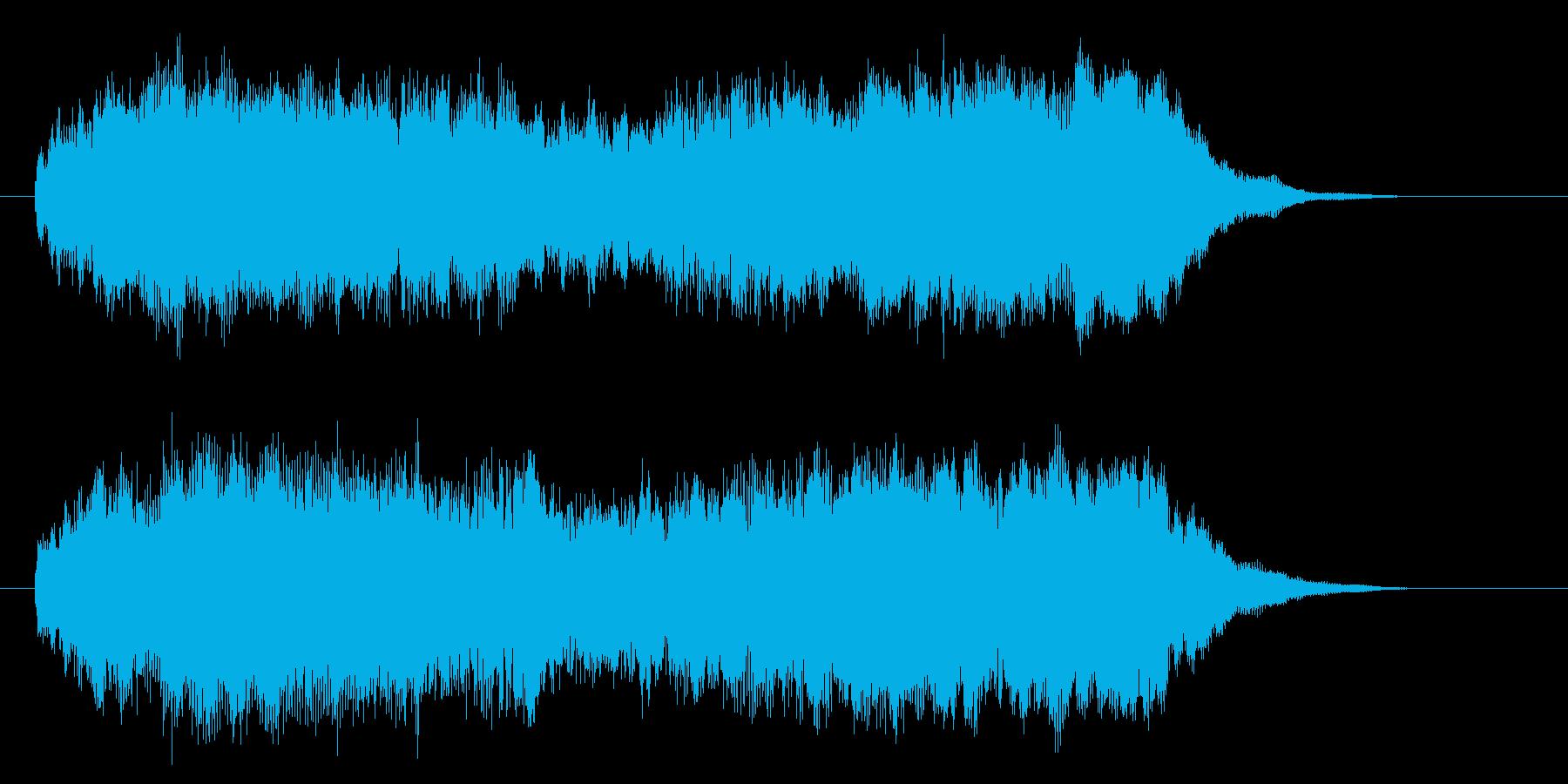 ゆったりとしたテンポのストリングスの再生済みの波形
