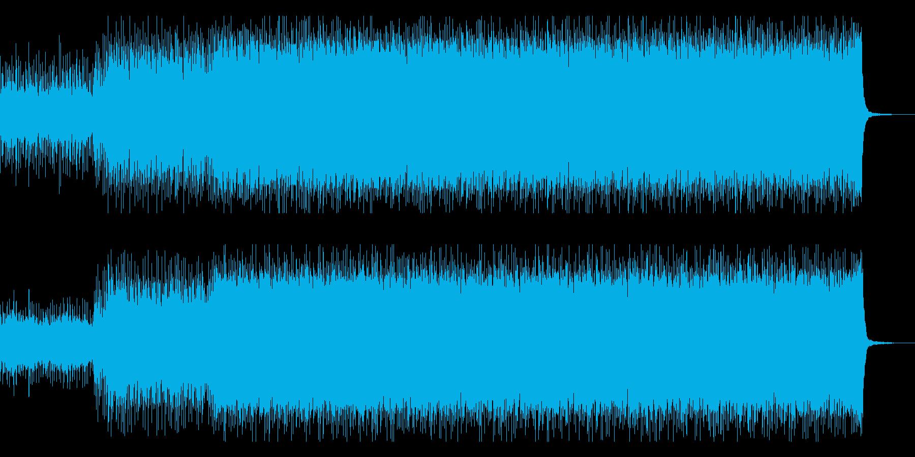 バトルシーン用のドラムンベースの再生済みの波形