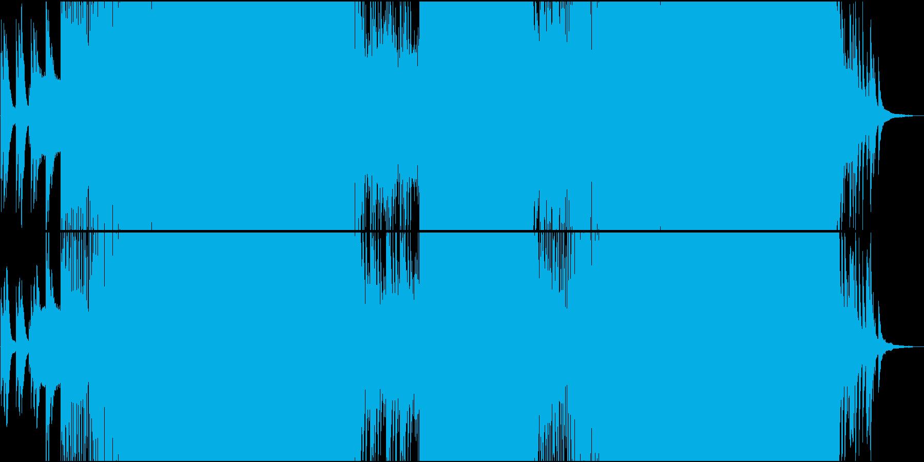 オープニングにふさわしい明るいEDMの再生済みの波形