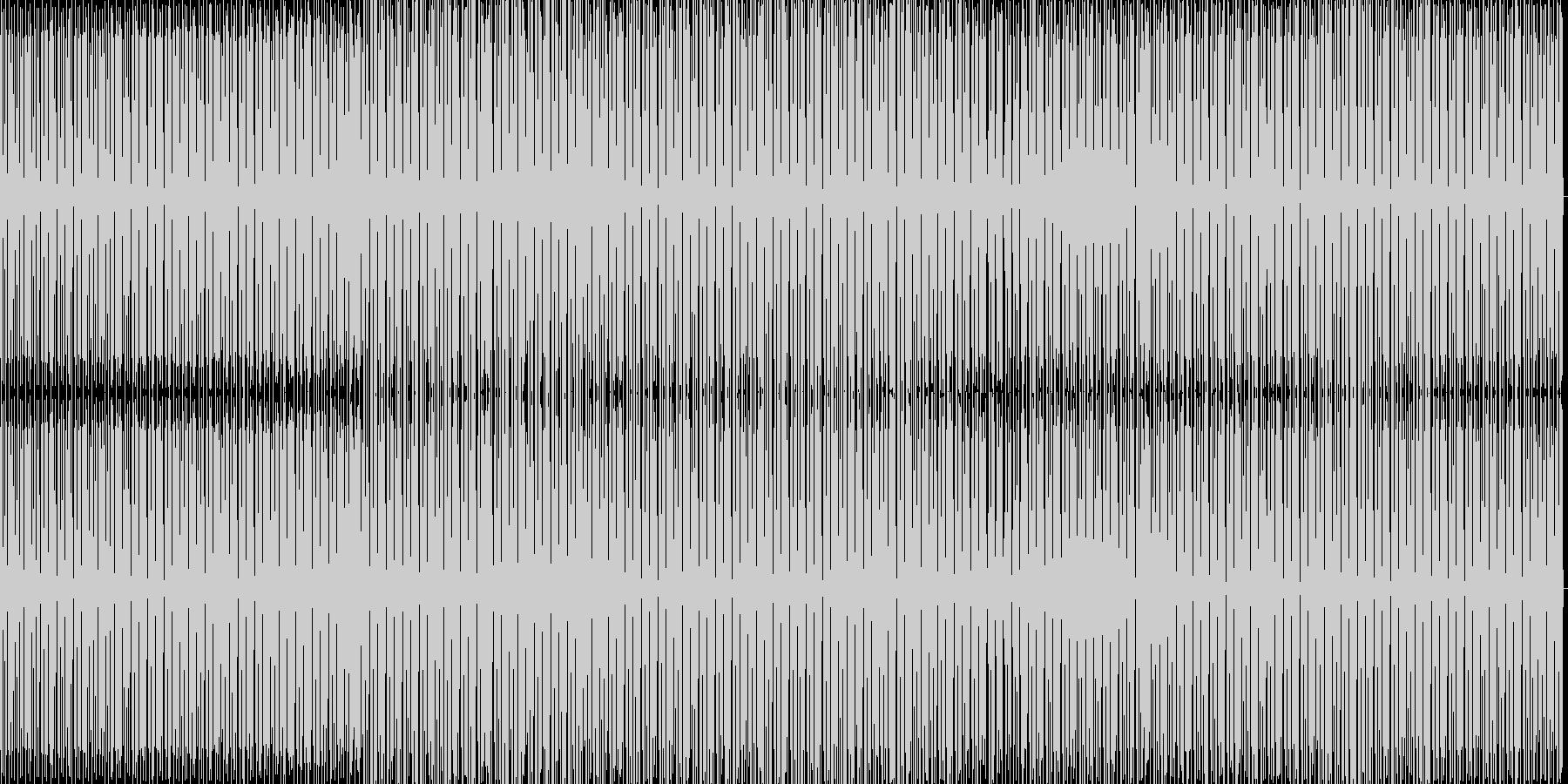 力強い感じのミニマルハウスの未再生の波形