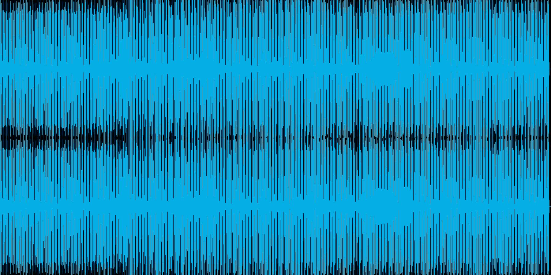 力強い感じのミニマルハウスの再生済みの波形